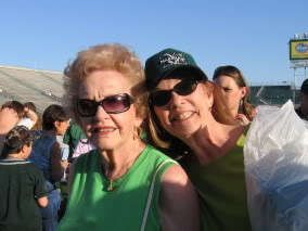 My Grandma and Mom at a Marshall Green & White Game (2 seasons ago)